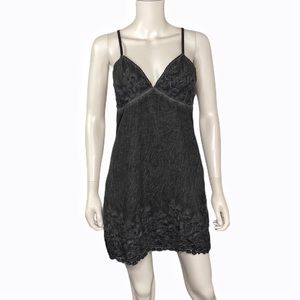 Boutique Grey Embroidered Dress Size M